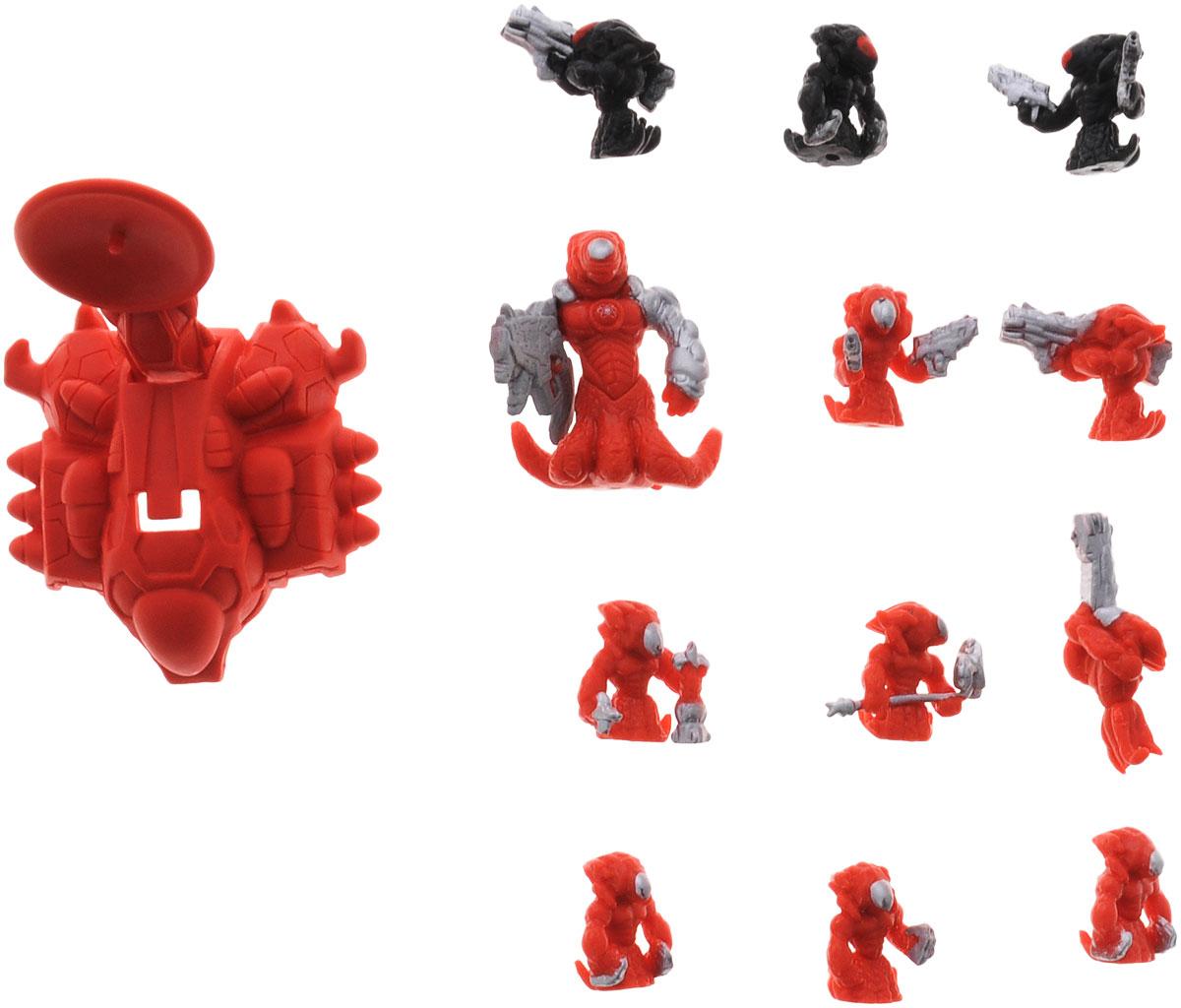 Atomicron Игровой набор Xenon Squad1170435_General XEN_красныйИгровой набор Atomicron Xenon Atom включает 12 пластиковых фигурок. 8 фигурок моллюскоподобных существ красного цвета представляют собой армию Ксенона, которой командует генерал Ксен, а 3 черных фигурки - их противники. В набор также входит катапульта - уникальное оружие, которое может стрелять солдатами-микронами. В Atomicron персонажи представлены классами химических элементов и их противоположностей. Таким образом, дети знакомятся с миром химии посредством увлекательной игры! Соберите все армии союзов Материи и их грозных противников - Антиматерии, чтобы устроить эпичное миниатюрное сражение за мир и порядок во Вселенной!