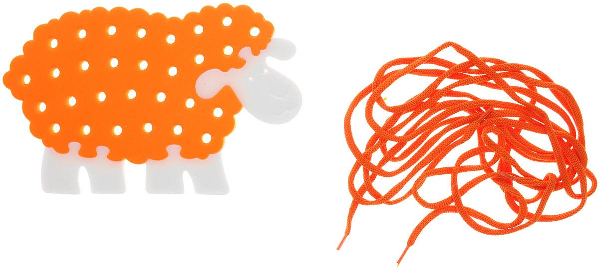 Флексика Игра-шнуровка Овечка цвет оранжевый45326_оранжевыйОдним из самых эффективных способов развития мелкой моторики являются игры-шнуровки. Игра-шнуровка Флексика Овечка представлена в виде милой овечки бело-оранжевого цвета. Она обязательно привлечет внимание вашего ребенка. При выполнении узоров обращайте внимание ребенка на количество линий в рисунке, на размер линий (длинная, короче, самая короткая), на их направление (горизонтально, вертикально или по диагонали) и на их расположение на поле (справа, слева, вверху, внизу). Познакомьте ребенка с понятием симметрия, сделав несколько симметричных рисунков или узоров. Расскажите ребенку о простейших геометрических фигурах, изображая их шнурками: прямая, отрезок, ломаная линия, угол, треугольник, квадрат, прямоугольник, многоугольник. Кроме этого, используя данную игру, вы можете познакомить малыша с различными типами швов. Производственная фирма Тедико зарекомендовала себя на рынке отечественных товаров как производитель...