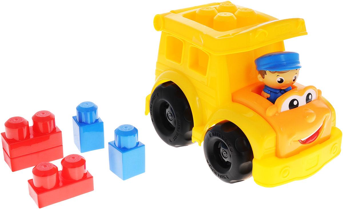 Mega Bloks First Builders Конструктор Школьный автобус СонниCND83Конструктор Mega Bloks Школьный автобус Сонни развеселит любого малыша! Выполнен конструктор в виде автобуса, за рулем которого сидит водитель Сонни. Ярко- желтый автобус будет ездить по округе, собирая пассажиров, или же отправится по новому маршруту, указанному вашим ребенком. Крыша автобуса легко открывается, позволяя поместить внутрь 5 блоков из набора. Их также можно прикрепить сверху, чтобы придать автобусу неповторимый облик! Пусть ваш ребенок сам создаст веселый автобус, на котором готов поехать в школу. Автобус оснащен крупными колесами, имеющими свободный ход. Элементы набора крупные, чем удобны для игры маленькими детскими ручками. Ваш ребенок часами будет играть с набором, придумывая разные истории. Порадуйте своего ребенка такой необыкновенной игрушкой!