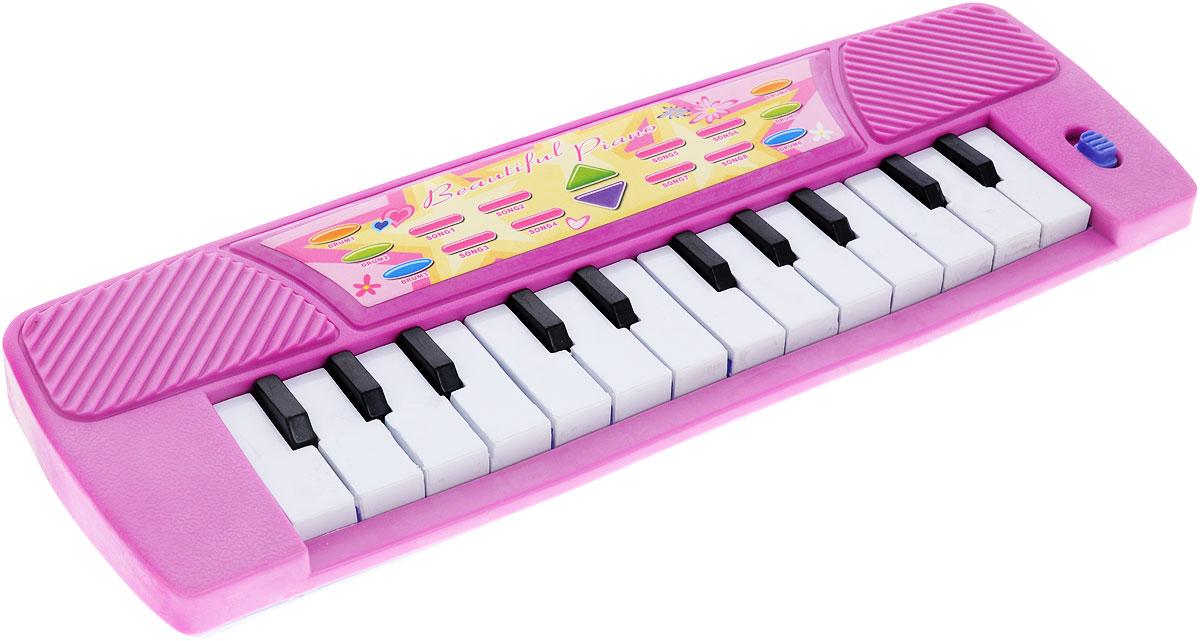 S+S Toys Музыкальная игрушка Пианино цвет розовыйBL618Музыка привлекает малышей с самого рождения. Это неудивительно, ведь она действительно окружает нас и сопровождает на протяжении всей жизни. Музыкальный слух малышам лучше прививать с детства и замечательное пианино S+S Toys поможет вам в этом. Пианино оснащено 14 белыми клавишами, каждая из которых играет свою ноту, благодаря чему малыш сможет сочинить и сыграть свою мелодию. Игра с пианино не только развивает у ребенка слух, но и улучшает мелкую моторику ручек, память и координацию. Ребенок будет в восторге от такого подарка! Необходимо купить 2 батарейки напряжением 1,5V типа АА (не входят в комплект).