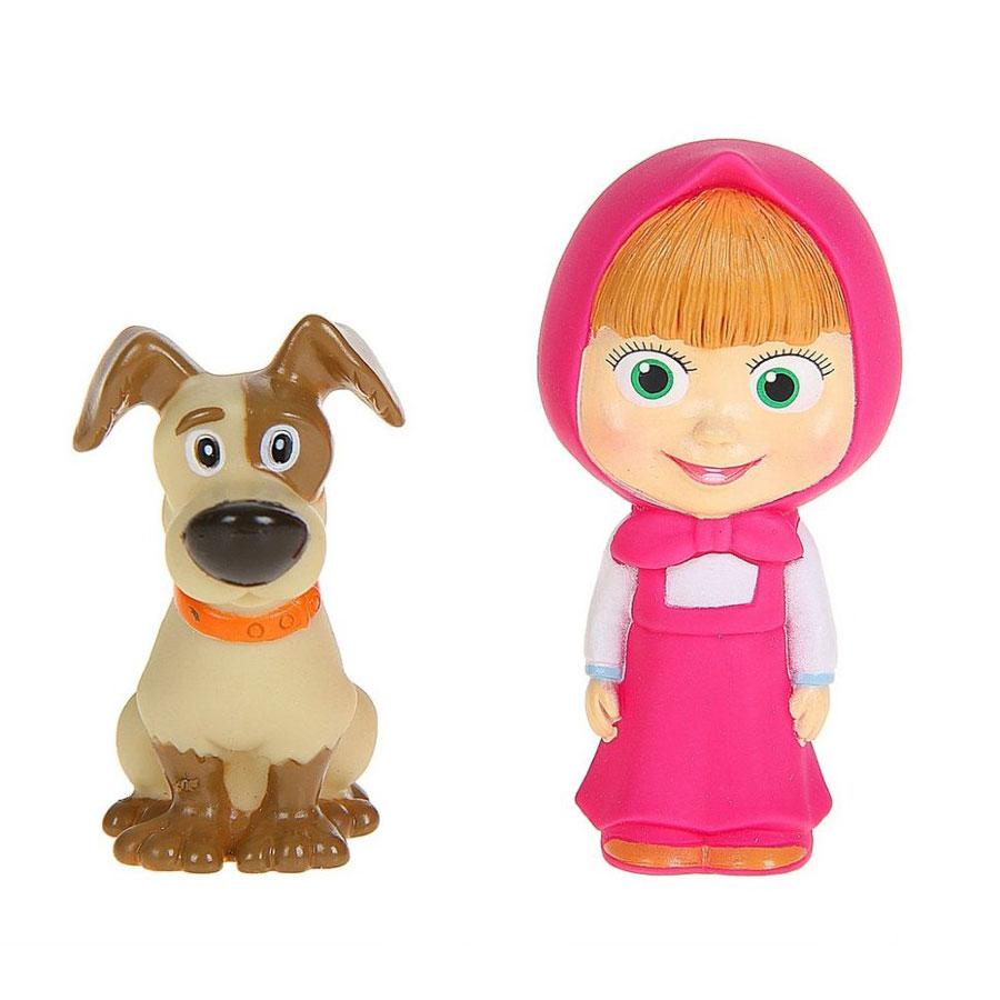 Маша и Медведь Набор игрушек для ванной Маша и собакаGT7871_Маша и собакаНабор игрушек для ванной Маша и Медведь Маша и собака превратит купание вашего малыша в интересную и веселую игру. Игрушки выполнены с большой аккуратностью, тщательностью, ярко окрашены и полностью повторяют внешность героев известного мультфильма. Изготовлены полностью из безопасных материалов. С таким набором вы вместе с вашим ребенком сможете придумать бессчетное количество веселых игр и историй. При сжатии игрушки забавно пищат, могут набирать в себя воду.