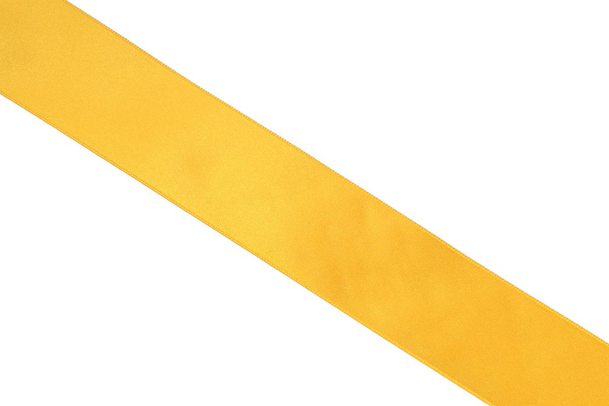 Лента атласная Prym, цвет: золотистый, ширина 38 мм, длина 25 м695806_20Атласная лента Prym изготовлена из 100% полиэстера. Область применения атласной ленты весьма широка. Изделие предназначено для оформления цветочных букетов, подарочных коробок, пакетов. Кроме того, она с успехом применяется для художественного оформления витрин, праздничного оформления помещений, изготовления искусственных цветов. Ее также можно использовать для творчества в различных техниках, таких как скрапбукинг, оформление аппликаций, для украшения фотоальбомов, подарков, конвертов, фоторамок, открыток и многого другого. Ширина ленты: 38 мм. Длина ленты: 25 м.