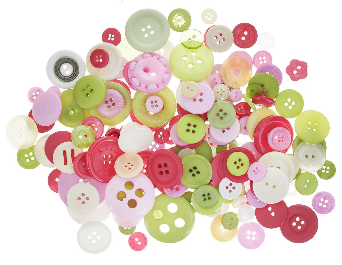 Пуговицы декоративные Buttons Galore & More Рождественский набор, цвет: розовый, зеленый, белый, 115 г7708881_Рождественский набор_1Набор пуговиц для творчества и декорирования одежды Buttons Galore & More Рождественский набор изготовлен из высококачественного пластика. В набор входят пуговицы различных размеров и с разным количеством отверстий. Такие пуговицы подходят для любых видов творчества: скрапбукинга, декорирования, шитья, изготовления кукол, а также для оформления одежды. С их помощью вы сможете украсить открытку, фотографию, альбом, подарок и другие предметы ручной работы. Пуговицы имеют оригинальный и яркий дизайн. Средний диаметр пуговиц: 1,7 см.