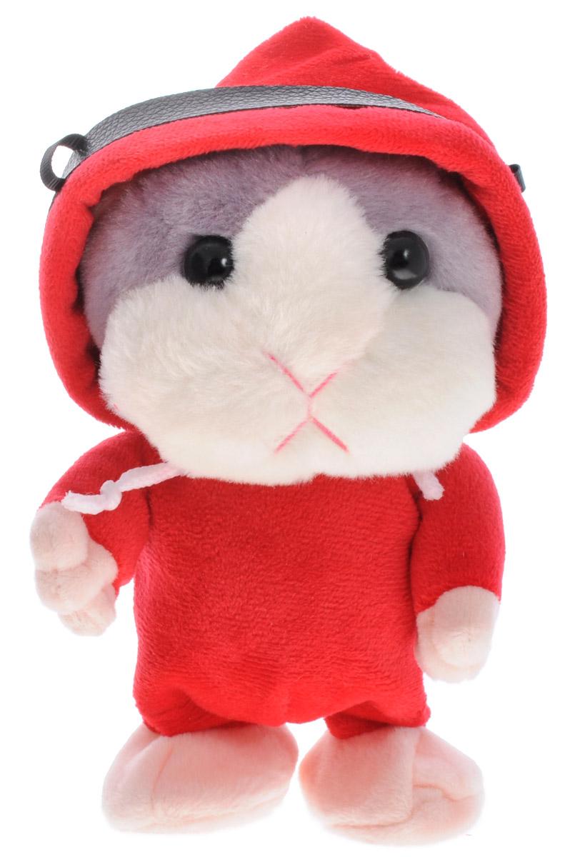Tongde Интерактивная игрушка Хомячок-повторюшкаT50-D482Мягкая интерактивная игрушка Хомячок-повторюшка, выполненная в виде симпатичного хомяка в красном комбинезоне с капюшоном, привлечет внимание не только ребенка, но и взрослого и вызовет улыбку у каждого, кто его увидит. Хомяк-повторюшка завоевал сердца множества детей и взрослых, благодаря своему милому виду и всего одному забавному умению - пародировать высоким смешным голосом все слова, которые хозяин игрушки говорит в специальный микрофон, скрытый под ее пушистой шерсткой. Хомячок не только разговаривает, но еще и умеет ходить вперед. Ребенок будет в восторге от бесхитростного общения со своим новым игрушечным зверьком. Эта милая игрушка поднимет вам настроение и поможет развеселить друзей! Такой подарок понравится как детям, так и взрослым с чувством юмора! Работает от 3 батареек ААА (не входят в комплект).