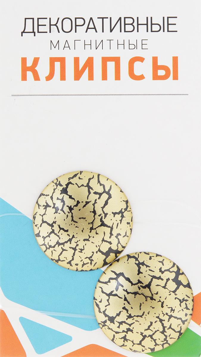 Клипсы магнитные для штор SmolTtx Трещины, с леской, цвет: золотистый, черный, длина 33,5 см, 2 шт544091_4ЕМагнитные клипсы SmolTtx Трещины предназначены для придания формы шторам. Изделие представляет собой соединенные леской два элемента, на внутренней поверхности которых расположены магниты. С помощью такой клипсы можно зафиксировать портьеры, придать им требуемое положение, сделать складки симметричными или приблизить портьеры, скрепить их. Следует отметить, что такие аксессуары для штор выполняют не только практическую функцию, но также являются одной из основных деталей декора, которая придает шторам восхитительный, стильный внешний вид. Длина клипсы (с учетом лески): 33,5 см. Диаметр клипсы: 3,5 см.