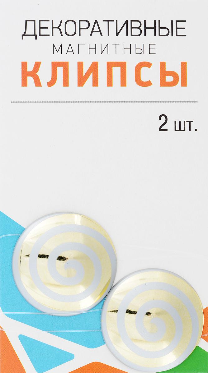 Клипсы магнитные для штор SmolTtx Гипноз, с леской, цвет: золотистый, светло-серый, длина 33,5 см, 2 шт544091_2Б3Магнитные клипсы SmolTtx Гипноз предназначены для придания формы шторам. Изделие представляет собой соединенные леской два элемента, на внутренней поверхности которых расположены магниты. С помощью такой клипсы можно зафиксировать портьеры, придать им требуемое положение, сделать складки симметричными или приблизить портьеры, скрепить их. Следует отметить, что такие аксессуары для штор выполняют не только практическую функцию, но также являются одной из основных деталей декора, которая придает шторам восхитительный, стильный внешний вид. Длина клипсы (с учетом лески): 33,5 см. Диаметр клипсы: 3,5 см.