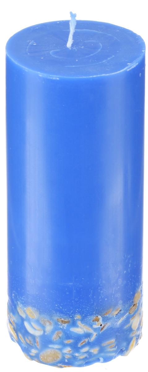 Свеча декоративная Proffi, с галькой, цвет: синий, высота 17 смPH5901Декоративная свеча Proffi выполнена из парафина и стеарина в классическом стиле. Нижняя часть свечи декорирована галькой. Изделие порадует вас ярким дизайном. Такую свечу можно поставить в любое место, и она станет ярким украшением интерьера. Свеча Proffi создаст незабываемую атмосферу, будь то торжество, романтический вечер или будничный день.