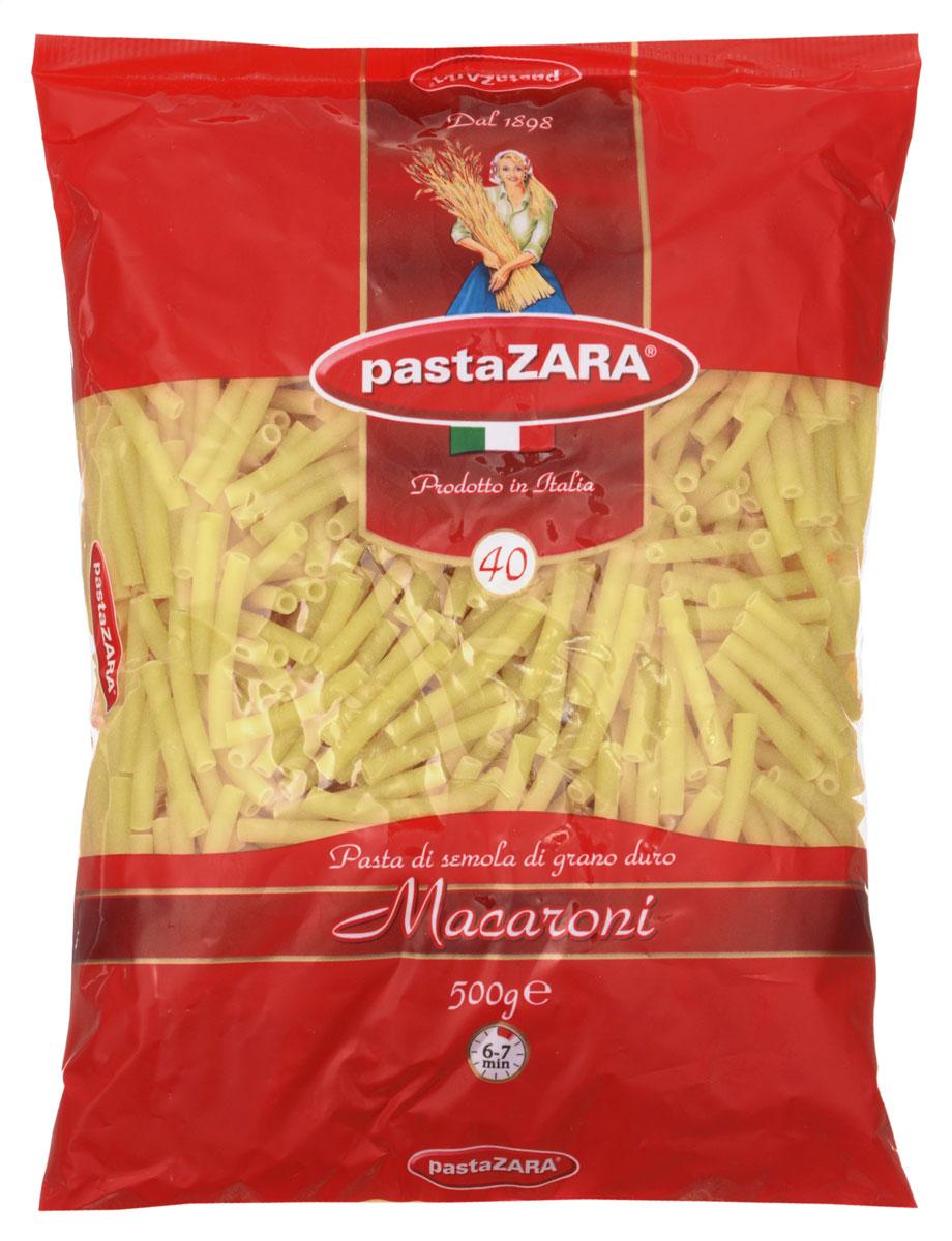 Pasta Zara Макарони макароны, 500 г8004350130402Классические макароны Pasta Zara 040 сочетает в себе современность технологий производства и традиционное итальянское качество. Эти изделия подойдут для приготовления самых разнообразных блюд - будь то сочетание с мясом или с овощами. Их вкусовые качества, как всегда, остаются на высоте, а благодаря твердым сортам пшеницы, входящим в состав, они сохраняют свою форму и не развариваются.