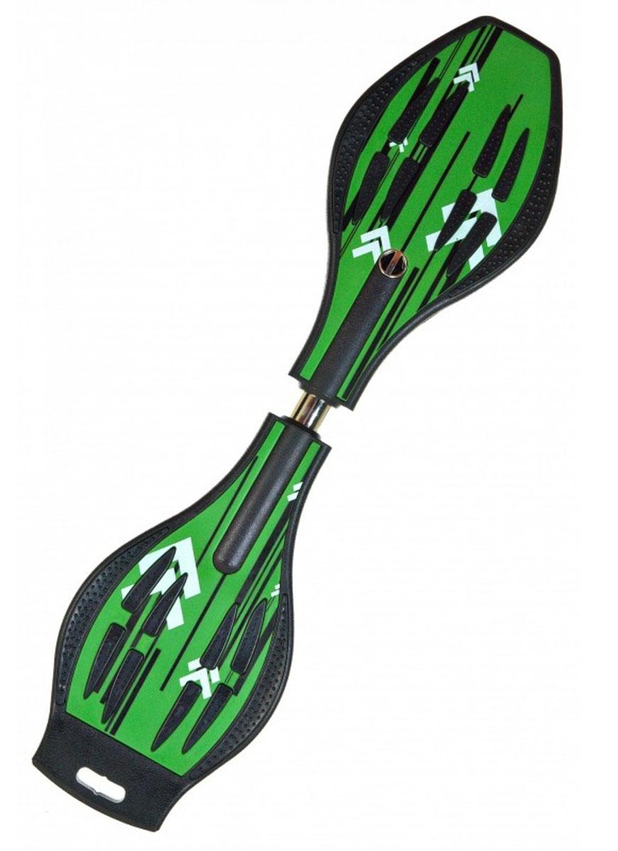 Двухколесный скейт Dragon Board Line, зеленыйво680Вес райдера до 70 кг, Длинна 87см, Колеса 80мм, Подшипники ABEC-5