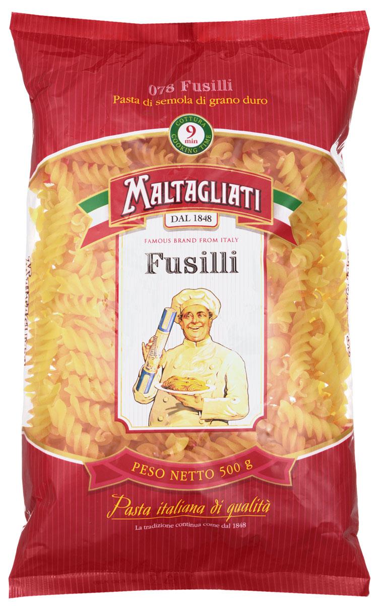 Maltagliati Fusilli Спираль макароны, 500 г8001810903583Спиральные макароны Maltagliati 078 производятся в Италии в Тоскане с 1848 года. Макаронные изделия Maltagliati с изображением итальянского повара - самые известные итальянские макаронные изделия на территории Российской Федерации и, вероятно, всего бывшего СССР. Эти изделия из твердых сортов пшеницы зарекомендовали себя как отличная основа для различных блюд. Они безусловно придутся по вкусу самым требовательным гурманам! Необычная форма придаст особую изюминку вашим кулинарным шедеврам.