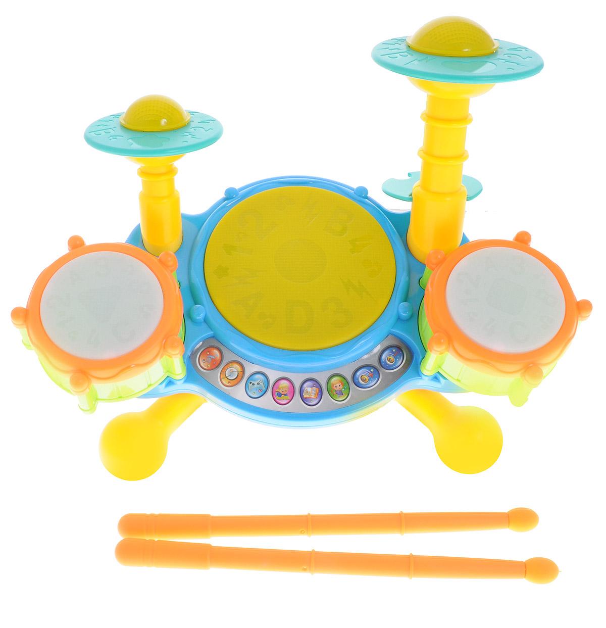 Zhorya Развивающая игрушка Веселый барабанХ75773Развивающая игрушка Zhorya Веселый барабан замечательная игрушка для маленьких музыкантов. Игрушка выполнена из прочных и безопасных для ребенка материалов. Барабан имеет 4 режима работы: забавные мелодии, игра на барабане под веселую музыку, игра на внимание и разучивание 5 стихов. В наборе имеются две палочки. Ребенок будет не только музицировать в свое удовольствие, но и получать новые полезные знания. Игрушка способствует развитию мелкой моторики, визуального восприятия, музыкального слуха. Необходимо купить 3 батарейки напряжением 1,5V типа АА (не входят в комплект). Порадуйте своего ребенка таким замечательным и полезным для него подарком!