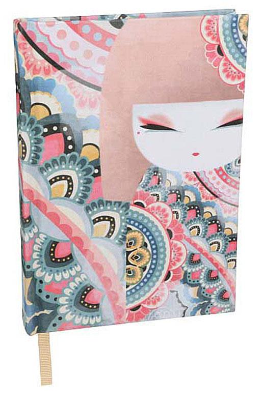 Kimmidoll Записная книжка Премиум ХаруйоKS0890Записная книжка Харуйо с оригинальным дизайном будет гармонично сочетаться с обстановкой рабочего стола стильной модницы. Необычная обложка из ткани премиум класса и рисунок, делают дизайн более стильным и придают еще больший изыск изделию. Внутренний блок содержит 96 разлинованных в полоску листов. Стильная и яркая записная книжка для заметок надежно сохранит все самые важные записи, мечты, воспоминания или даже лекции.