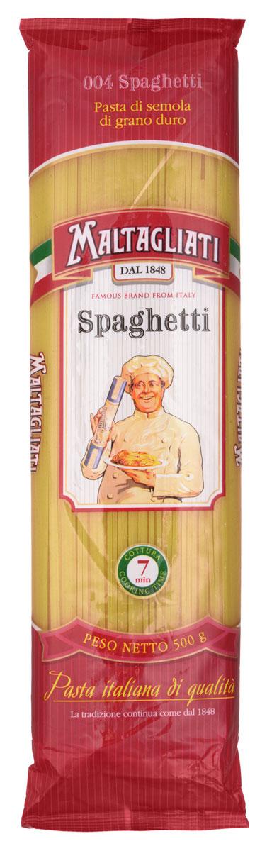 Maltagliati Spaghetti Спагетти макароны, 500 г8001810903484Спагетти Maltagliati производятся в Италии в Тоскане с 1848 года. Макаронные изделия Maltagliati 004 с изображением итальянского повара — самые известные итальянские макаронные изделия на территории Российской Федерации и, вероятно, всего бывшего СССР. Тонкие, длинные спагетти этой марки приготовлены из твердых сортов пшеницы и будут прекрасным угощением для всей семьи и основой для разнообразных блюд.
