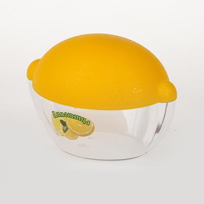 Емкость для лимона. M909M909Емкость для лимона L=110мм (лимонно-прозрачный пластик формы лимона)