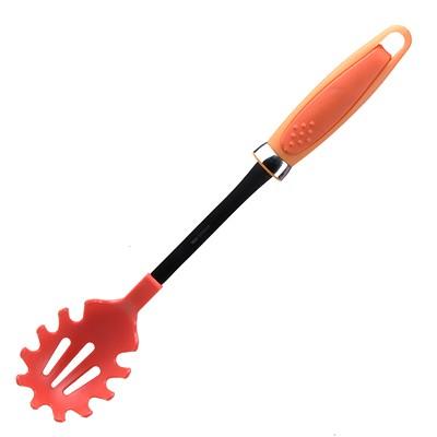 Ложка для спагетти 40*73*360 мм (цвет оранжевый)Q2-6/RЛожка пластмасса