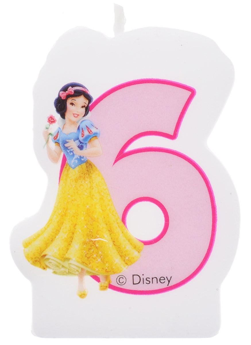 Procos Свеча-цифра для торта Принцессы 6 лет9046, 82899Каждая именинница ждет своего праздничного торта со свечками, которые можно задуть и загадать желание. Вашей малышке будет особенно приятно видеть свечки с фигурками любимых сказочных принцесс Диснея. Свечка с принцессой Белоснежкой украсит праздничный торт девочки, которая отмечает свой шестой день рождения.