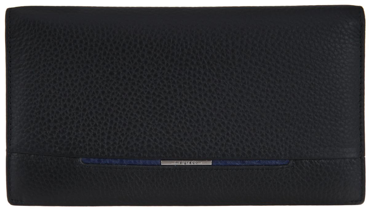 Портмоне мужское Malgrado, цвет: черный. 67361-500167361-5001D BlackСтильное мужское портмоне Malgrado выполнено из натуральной кожи с зернистой фактурой и оформлено металлической фурнитурой с символикой бренда. Изделие раскладывается пополам. Внутри расположены отделение для купюр, четыре боковых кармана, шесть кармашков для пластиковых карт, один из которых дополнен вставкой из пластика. Снаружи, в тыльной стенке изделия, расположен врезной карман на молнии для мелочи. Изделие поставляется в фирменной упаковке. Портмоне Malgrado станет отличным подарком для человека, ценящего качественные и практичные вещи.