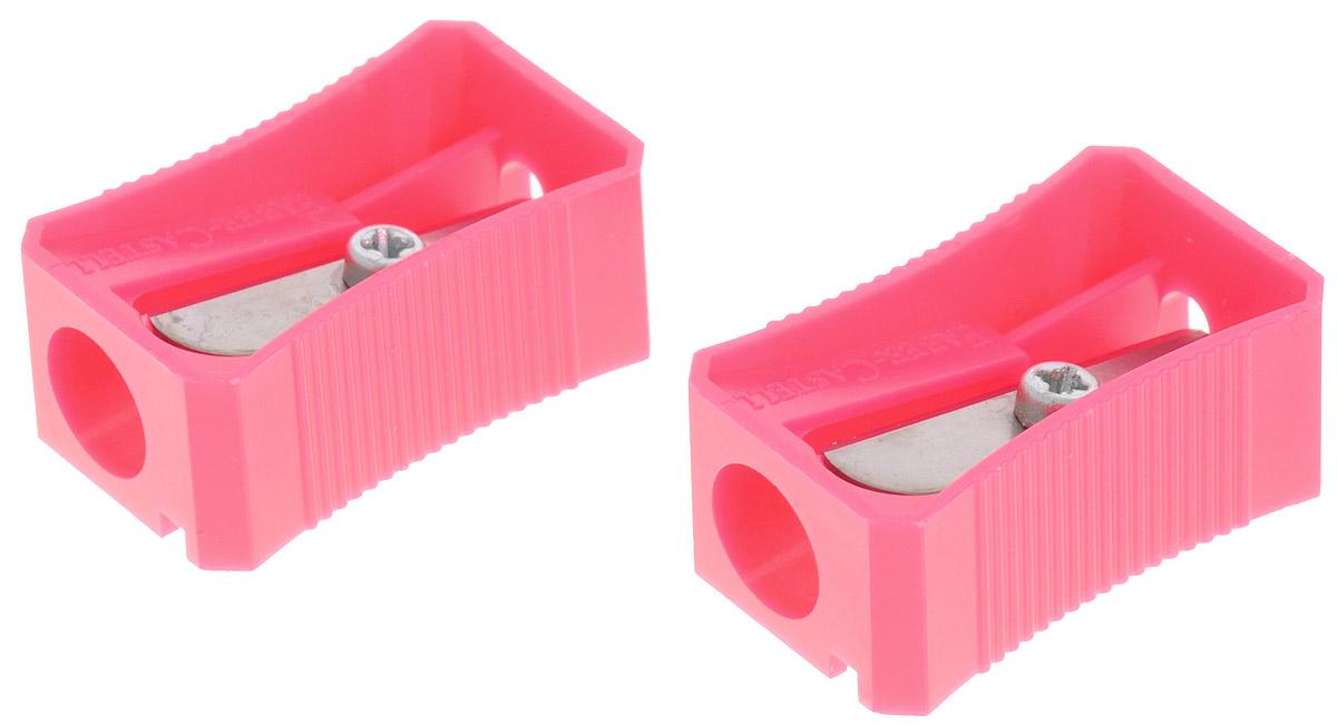 Faber-Castell Точилка цвет розовый 2 шт263221_розовыйНабор точилок Faber-Castell предназначен для затачивания классических простых и цветных карандашей. В наборе две точилки из прочного пластика с рифленой областью захвата. Острые стальные лезвия обеспечивают высококачественную и точную заточку деревянных карандашей.