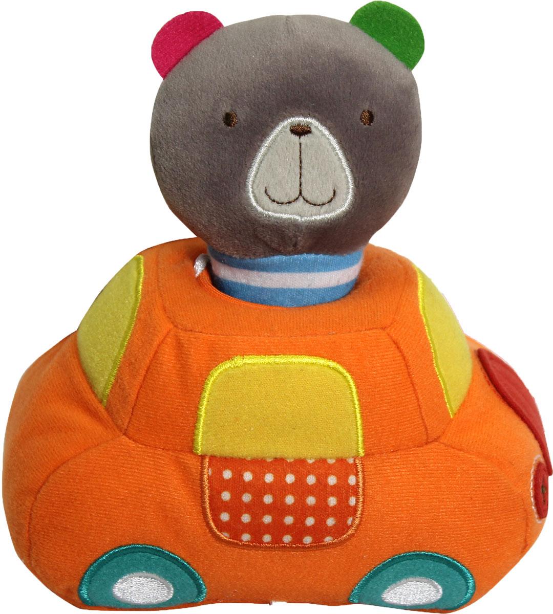 Bobby & Friends Мягкая развивающая игрушка Плюшевый транспорт цвет оранжевый серыйТ57143Мягкая развивающая игрушка Bobby & Friends Плюшевый транспорт выполнена в виде машинки с сидящим в ней медвежонком Бобби. Игрушка поможет ребенку развить тактильные навыки, визуальное и звуковое восприятие. Если посадить медвежонка за руль, то вы услышите звук работающего мотора и приветствие Бобби. Сама фигурка медвежонка оснащена пищалкой. Для работы игрушки необходимы 3 батарейки типа ААА (товар комплектуется демонстрационными).