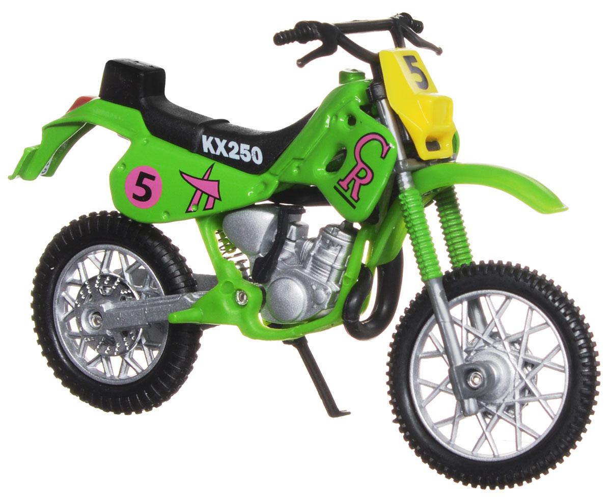 Dickie Toys Кроссовый мотоцикл № 5 цвет салатовый3385773_салатовый №5Кроссовый мотоцикл Dickie Toys № 5 непременно понравится любому маленькому гонщику. Мотоцикл выполнен из прочного безопасного пластика, его колесики прорезинены для лучшего сцепления с поверхностью пола. Мотоцикл оснащен откидывающейся боковой ножкой и оформлен красочными стикерами. Яркий, реалистичный мотоцикл, выполненный с вниманием к деталям, станет отличным дополнением к автопарку вашего малыша! Ваш ребенок часами будет играть с такой игрушкой, придумывая различные истории и устраивая соревнования. Порадуйте его таким замечательным подарком!
