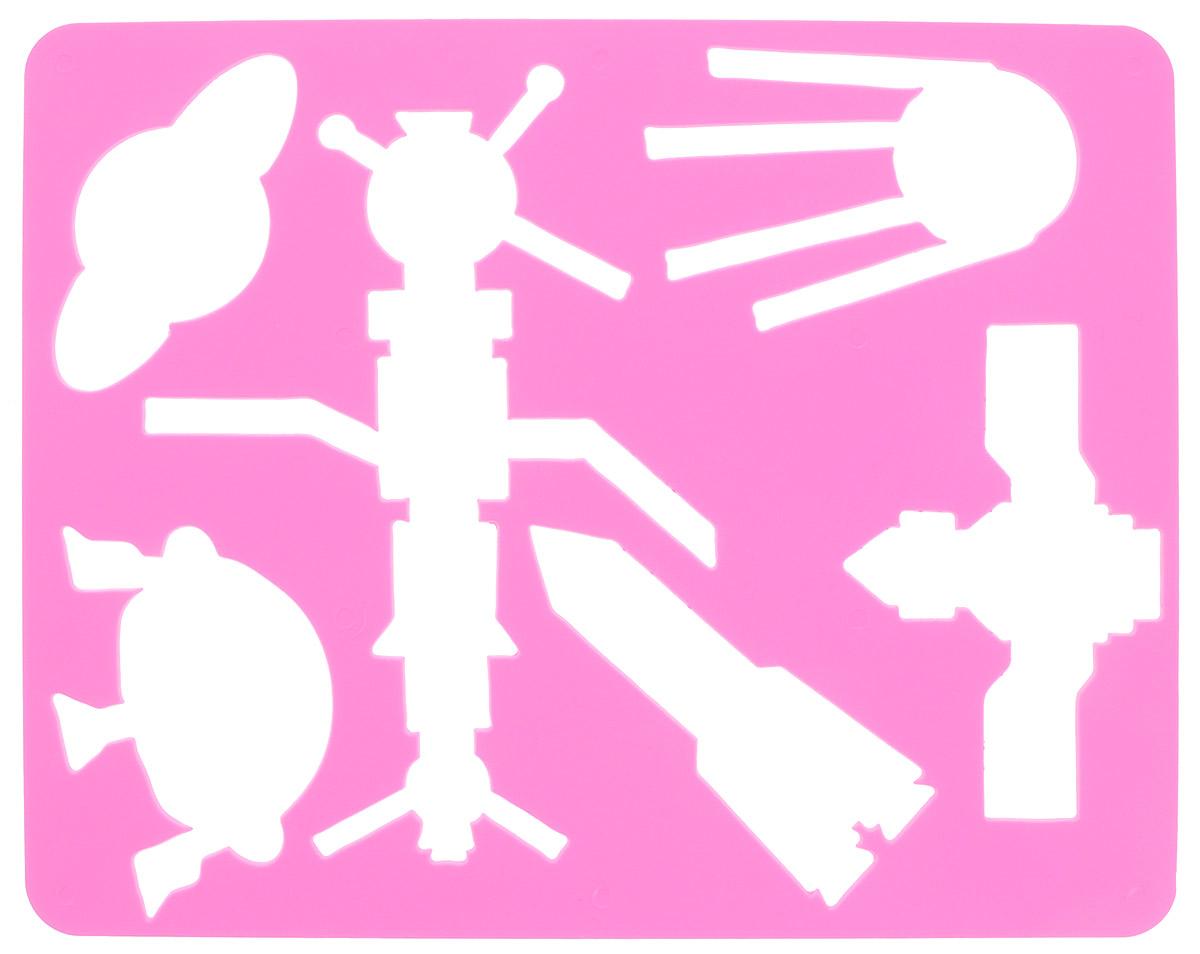 Луч Трафарет прорезной Космос цвет розовый9С 488-08_розовыйТрафарет Луч Космос, выполненный из безопасного пластика, предназначен для детского творчества. По трафарету Космос маленькие художники смогут нарисовать спутники, ракету, космическую станцию, летающую тарелку и планету Сатурн. Для этого необходимо положить трафарет на лист бумаги, обвести фигуру по контуру и раскрасить по своему вкусу или глядя на цветную картинку- образец. Трафареты предназначены для развития у детей мелкой моторики и зрительно-двигательной координации, навыков художественной композиции и зрительного восприятия.