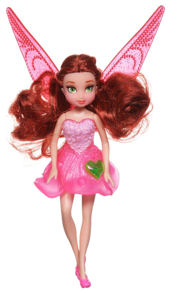 Disney Fairies Мини-кукла Pirate Fairy Rosetta762590_RosettaКукла Disney Fairies Pirate Fairy. Rosetta поможет вашей малышке окунуться в сказочный мир. Кукла создана по мотивам мультфильма Загадка пиратского острова. Куколка одета в розовое блестящее платье, на ножках - туфельки в тон платью. На юбочке платья расположен крупный блестящий кристалл. За спиной феи - съемные полупрозрачные крылышки. Ручки и ножки куколки подвижны. Игры с куклой способствуют эмоциональному развитию ребенка, а также помогают формировать воображение и художественный вкус. Ваша малышка с удовольствием будет играть с этой куколкой, проигрывая сюжеты из мультфильма или придумывая различные истории. Порадуйте свою принцессу таким великолепным подарком!
