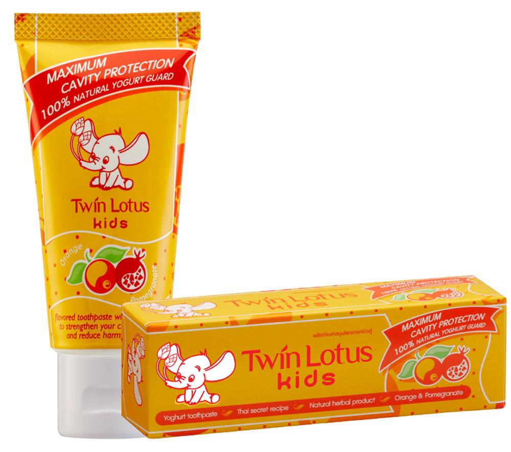 Twin Lotus Детская зубная паста Апельсин и гранат, 50 г1329Для молочных и постоянных зубов.Не содержит фтора, лауритсульфат натрия, парабенов, ПЭГ. Зубная паста предназначена для детей от 3 до 10 лет. Препятствует росту бактерий, обеспечивая надежную защиту от кариеса, нормализуют микробный состав полости рта, укрепляет зубную эмаль, предотвращая потерю кальция, обладает приятным фруктовым вкусом.