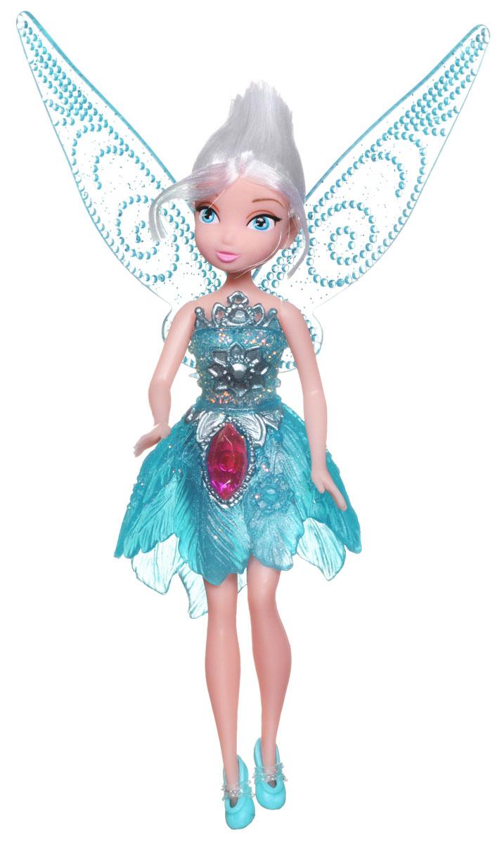 Disney Fairies Мини-кукла Pirate Fairy Periwinkle762590_PeriwinkleКукла Disney Fairies Pirate Fairy. Periwinkle поможет вашей малышке окунуться в сказочный мир. Кукла создана по мотивам мультфильма Загадка пиратского острова. Куколка одета в голубое блестящее платье с серебристыми узорами, на ножках - туфельки в тон платью. На юбочке платья расположен крупный блестящий кристалл. За спиной феи - съемные полупрозрачные крылышки. Ручки и ножки куколки подвижны. Игры с куклой способствуют эмоциональному развитию ребенка, а также помогают формировать воображение и художественный вкус. Ваша малышка с удовольствием будет играть с этой куколкой, проигрывая сюжеты из мультфильма или придумывая различные истории. Порадуйте свою принцессу таким великолепным подарком!