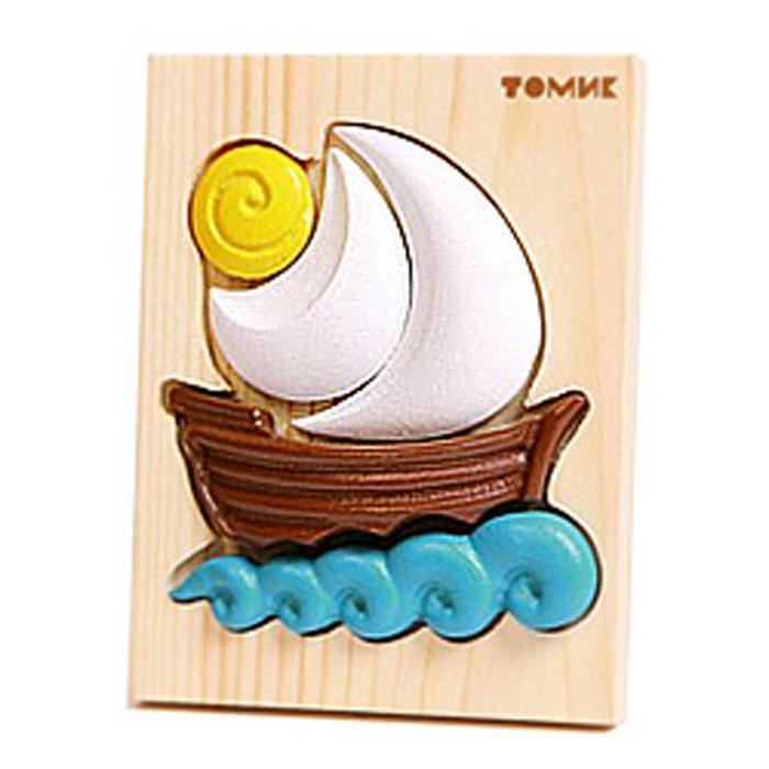 Томик Пазл объемный Кораблик421Объемный пазл Томик Кораблик - это деревянная основа, в которой вырезано углубление определенной формы, совпадающее с формой фигурки. В углубление вставляются элементы фигурки так, чтобы получился парусник на волнах. Пазл прекрасно развивает логическое мышление, мелкую моторику, память, учит различать цвета, формы и размеры. Все детали хорошо отшлифованы и покрашены безопасной краской.