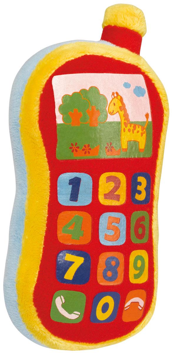 Simba Мягкая игрушка Плюшевый телефон 16 см4012745Игрушка мягкая Simba Плюшевый телефон предназначена для самых маленьких, но уже таких любознательных детишек. Телефон оснащен звуковыми эффектами (звонок, набор клавиш), что делает игровой процесс еще более захватывающим. Игрушка изготовлена из яркого мягкого текстиля. Разнообразные формы и цвета способствуют развитию зрительной координации, цветового восприятия, тактильных ощущений и мелкой моторики рук ребенка, а издаваемые игрушкой звуки тренируют его слух. Для работы требуются 3 батарейки LR44 (комплектуется демонстрационными).