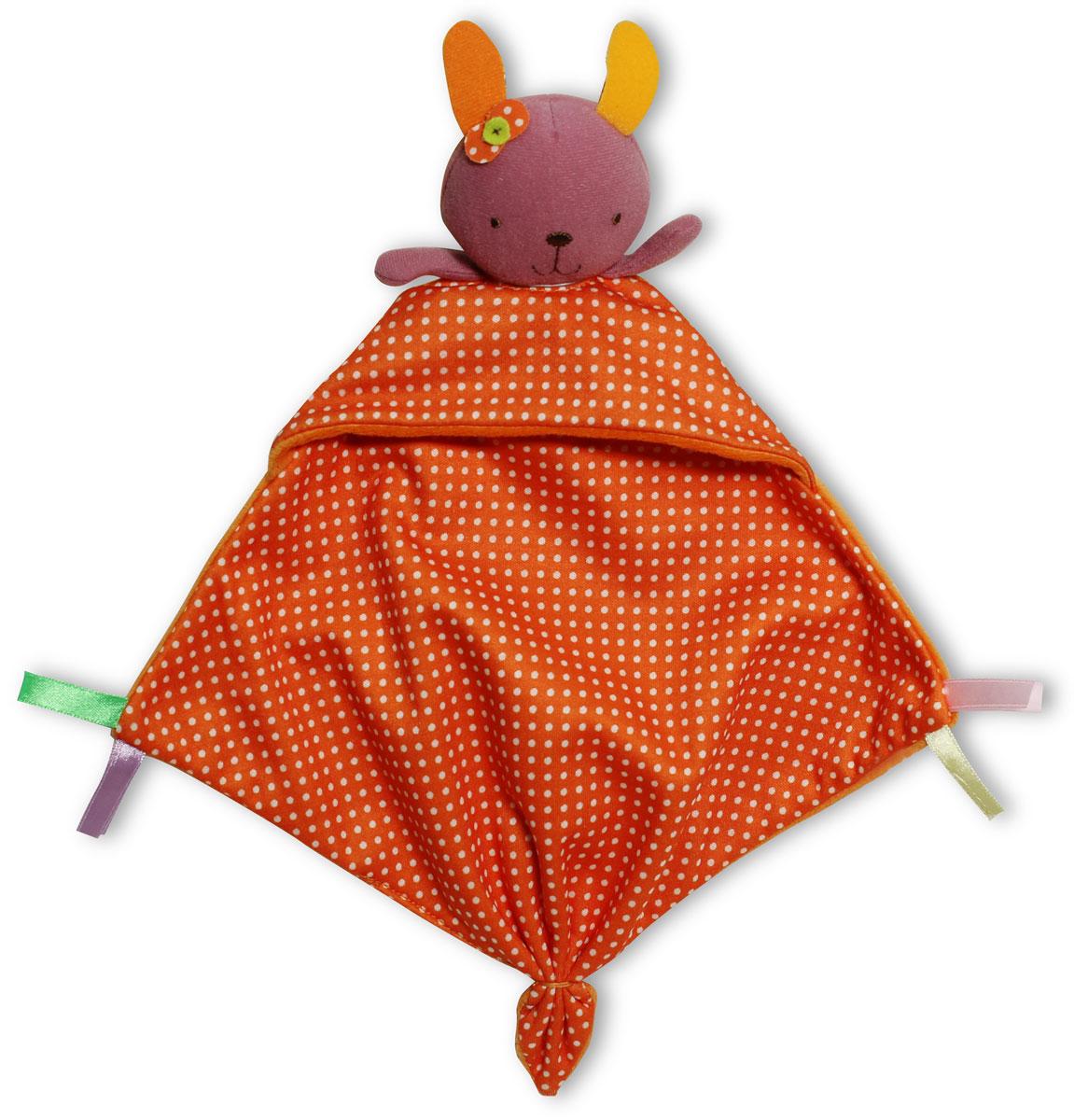 Bobby & Friends Игрушка-платочек Зайка ФанниТ57137_розовый/оранжевый в горошекИгрушка-платочек Bobby & Friends Зайка Фанни создана специально для самых маленьких. Игрушка-платочек, или комфортер - это специальная игрушка-салфетка, пропитанная запахом мамы. Игрушку в виде зверька кладут рядом с мамой во время кормления. Ткань пропитывается маминым запахом, и это помогает малышу чувствовать себя комфортно, когда маме приходится куда-то отлучаться. Малыш думает, что мама рядом и поэтому спокоен.