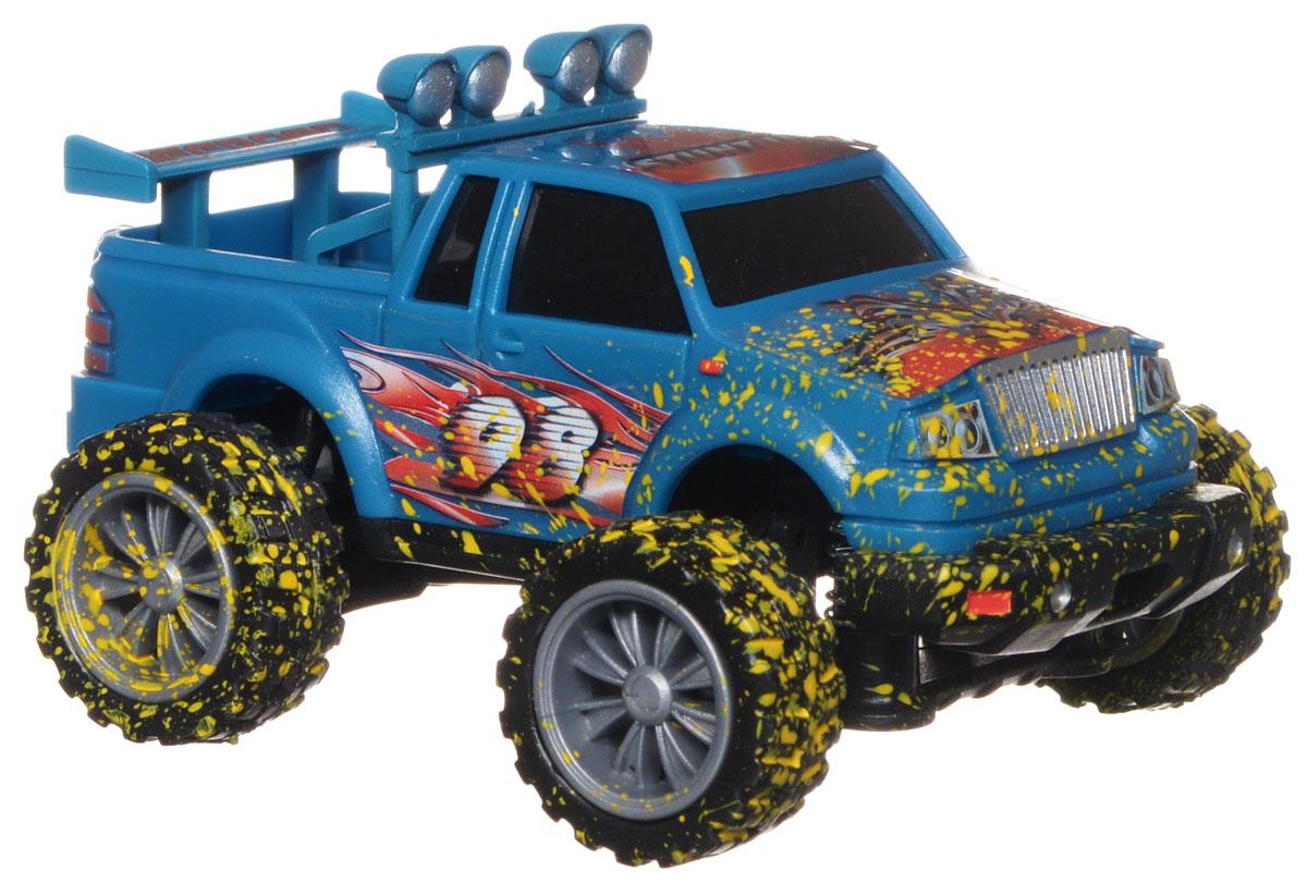 Dickie Toys Машинка инерционная Stunt Monster цвет синий3315429_синийМашинка Dickie Toys Джип Stunt Monster обязательно понравится вашему малышу и надолго увлечет его. Она выполнена из яркого безопасного пластика в виде джипа. Колесики машинки прорезинены. Передние колеса машинки дополнены пружинками. Игрушка оснащена инерционным механизмом - отведите ее назад и отпустите, и машинка быстро поедет вперед! Благодаря прорезиненным накладкам, машинка превосходно движется по любой ровной поверхности. Игры с такой машинкой развивают концентрацию внимания, координацию движений, мелкую и крупную моторику, цветовое восприятие и воображение. Малыш будет часами играть с этой машинкой, придумывая разные истории. Порадуйте своего ребенка таким замечательным подарком!