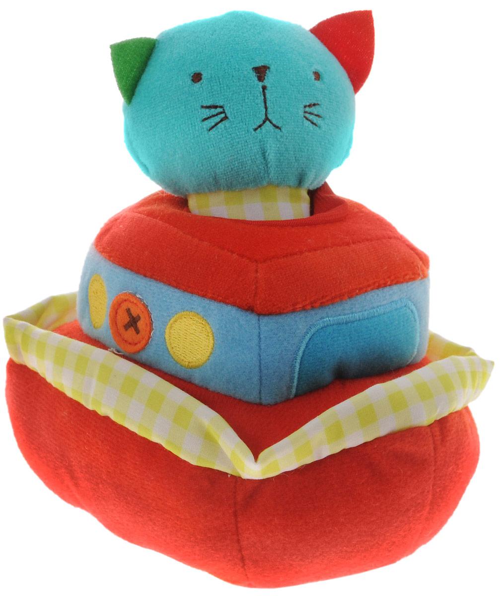 Bobby & Friends Мягкая развивающая игрушка Плюшевый транспорт цвет красный бирюзовыйТ57143_бирюзовый,красныйМягкая развивающая игрушка Bobby & Friends Плюшевый транспорт выполнена в виде парохода с сидящей в нем кошечкой Кэтти. Игрушка поможет ребенку развить тактильные навыки, визуальное и звуковое восприятие. Если посадить кошечку в корабль, то вы услышите пароходный гудок и приветствие Кэтти. Сама фигурка кошечки оснащена пищалкой. Для работы игрушки необходимы 3 батарейки типа ААА (товар комплектуется демонстрационными).