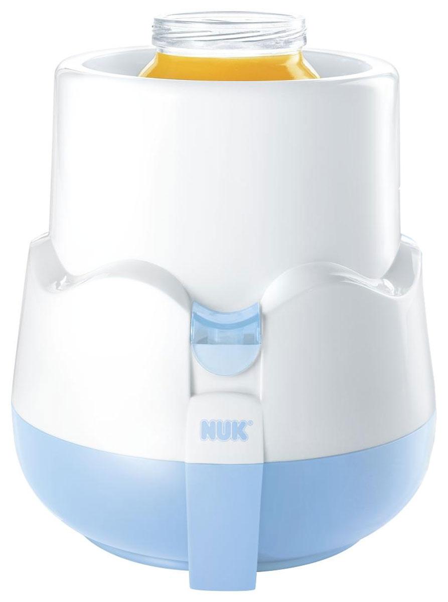 NUK Подогреватель детского питания Thermo-Rapid10 256 237Компактный подогреватель NUK Thermo-Rapid предназначен для особенно щадящего и равномерного разогревания жидкого и кашеобразного детского питания путем водяного пара. Встроенный световой индикатор сопровождает процесс нагревания, а при достижении заданной температуры подогреватель автоматически отключится. В комплект с подогревателем входит корзиночка, благодаря которой вы легко сможете вынуть горячие бутылочки и баночки и мерный стаканчик, для правильного заполнения подогревателя водой. Высота: 15 см Диаметр: 13 см Внутренний диаметр: 8 см