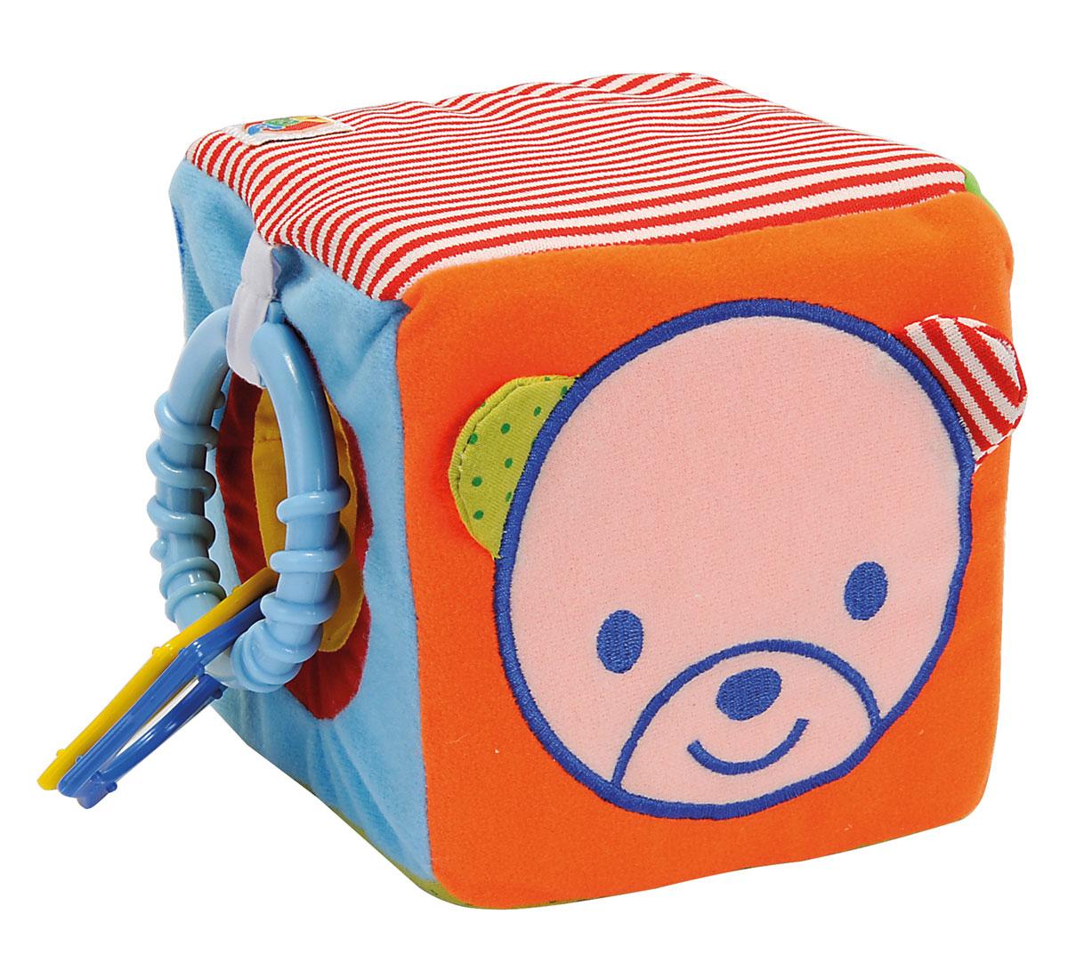 Simba Мягкая развивающая игрушка Кубик4010482Мягкая развивающая игрушка Simba Кубик - идеальная игрушка для малышей с первых дней жизни. Игрушка изготовлена из высококачественных материалов, безопасных для здоровья ребенка. Игрушка выполнена в виде кубика, который оснащен безопасным зеркальцем и погремушкой. Пестрая расцветка и множество деталей с разнообразной текстурой привлекают внимание крохи, способствуя развитию зрительного и слухового восприятия, тактильных навыков и мелкой моторики рук. Наличие подвески-прорезывателя особенно актуально в период появления первых зубов.