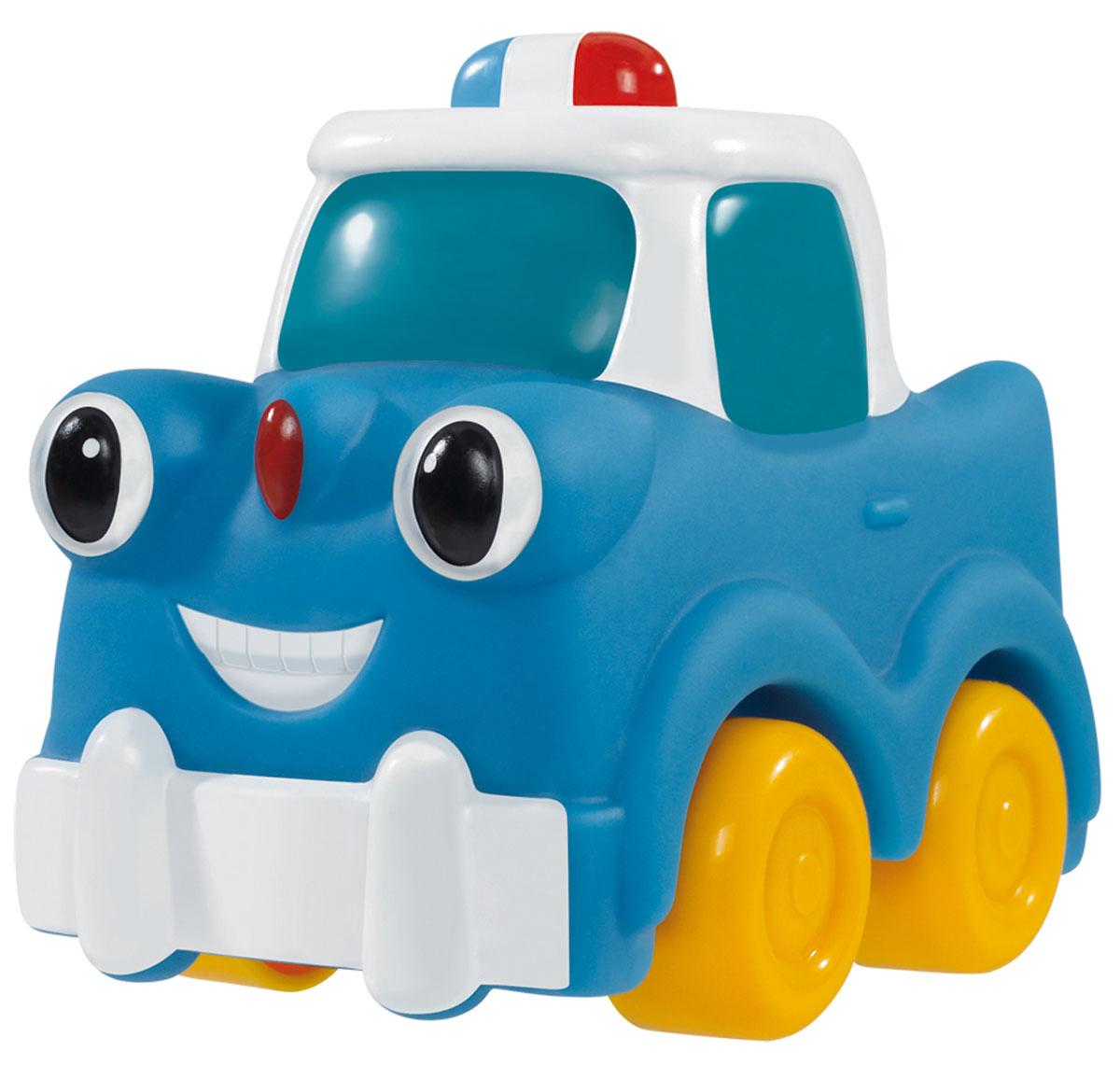 Simba Машинка цвет синий4019687_синийКрасочные машинки Simba обязательно привлекут внимание вашего малыша. Фары машинки представлены в виде больших глазок, а на бампере изображена радостная улыбка. Игрушка имеет обтекаемую форму. Игрушка выполнена из качественного безопасного пластика, имеют форму без острых углов. Крупные колеса позволят малышу легко катать машинку по любой поверхности. Игрушка развивает цветовое восприятие, воображение, подвижность, мелкую и крупную моторику рук.
