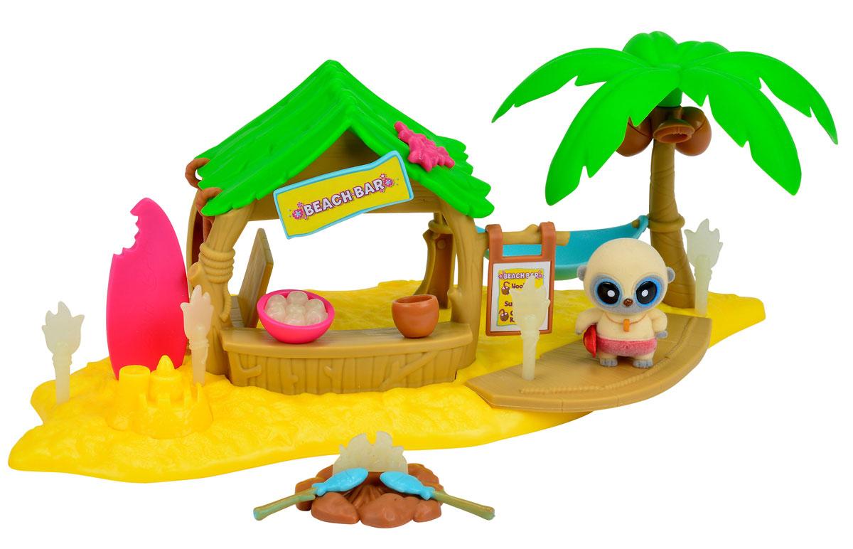 Simba Игровой набор Пляжный бар5950636Игровой набор Simba Пляжный бар позволит отлично провести время с Юху и его друзьями. На этот раз Юху решил отдохнуть на берегу и насладиться напитками из бара. На желтом пляже стоит высокая пальма и бар с качелями. Между пальмой и баром натянут удобный гамак. А еще в наборе множество аксессуаров для веселой пляжной вечеринки. Факелы и костер светятся в темноте. Элементы набора изготовлены из безопасных для ребенка материалов. Забавная фигурка выполнена из приятного на ощупь мягкого флока. Набор включает в себя мини-фигурку, пальму, гамак, бар с качелями и аксессуары. Во время игры малыш развивает воображение и моторику пальцев рук. br> Это замечательный набор станет отличным подарком для любого ребенка. Ваш малыш часами будет играть с таким набором, придумывая различные истории.