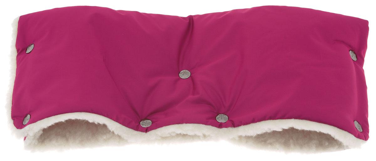Чудо-Чадо Муфта для рук на коляску меховая цвет вишневый