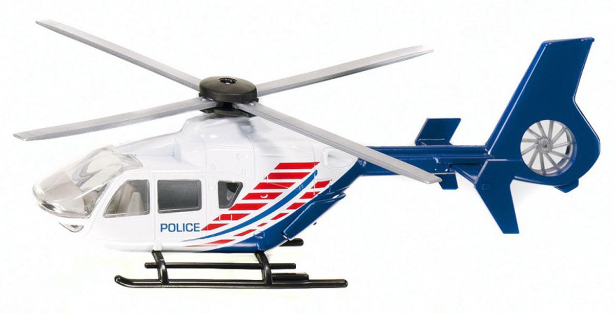 Siku Полицейский вертолет цвет синий белый2539_POLICEКоллекционная модель Siku Полицейский вертолет выполнена в виде точной копии вертолета в масштабе 1/55, разработанного во второй половине 70-х годов фирмами MBB и Kawasaki. Такая модель понравится не только ребенку, но и взрослому коллекционеру, и приятно удивит вас высочайшим качеством исполнения. Модель выполнена из металла с элементами из пластика. Несущий винт вертолета крутится. Коллекционная модель станет не только интересной игрушкой для ребенка, интересующегося агротехникой, но и займет достойное место в коллекции.