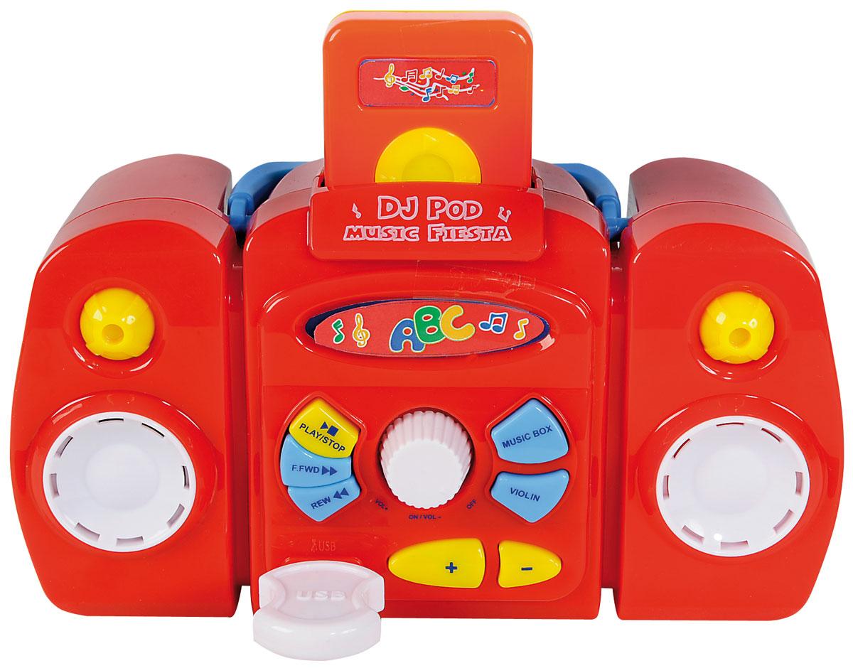 Simba Музыкальная игрушка Магнитофон4019531Музыкальная игрушка Магнитофон выполнена из безопасного пластика ярких цветов с MP3 плеером и флешкой USB. На лицевой панели расположены кнопки воспроизведения мелодий, динамики и регулятор звука. Громкость игрушки можно регулировать. Вверху есть специальный паз, куда вставляется игрушечный MP3 плеер. Инструкция по эксплуатации на русском языке поможет быстро разобраться в работе игрушки. С помощью магнитофона ребенок сможет развить свои музыкальные способности и весело провести время. Порадуйте его таким великолепным подарком! Для работы нужны 3 батарейки 1.5V АА (комплектуется демонстрационными).