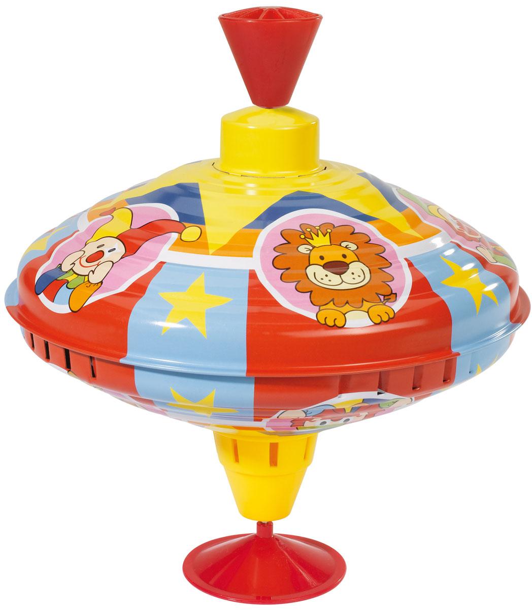 Simba Юла4011891Яркая цветная металлическая юла для детей от 18 мес. на специальной подставке. При вращении юла издает мелодичное звучание, и это особенно интересно для малыша.