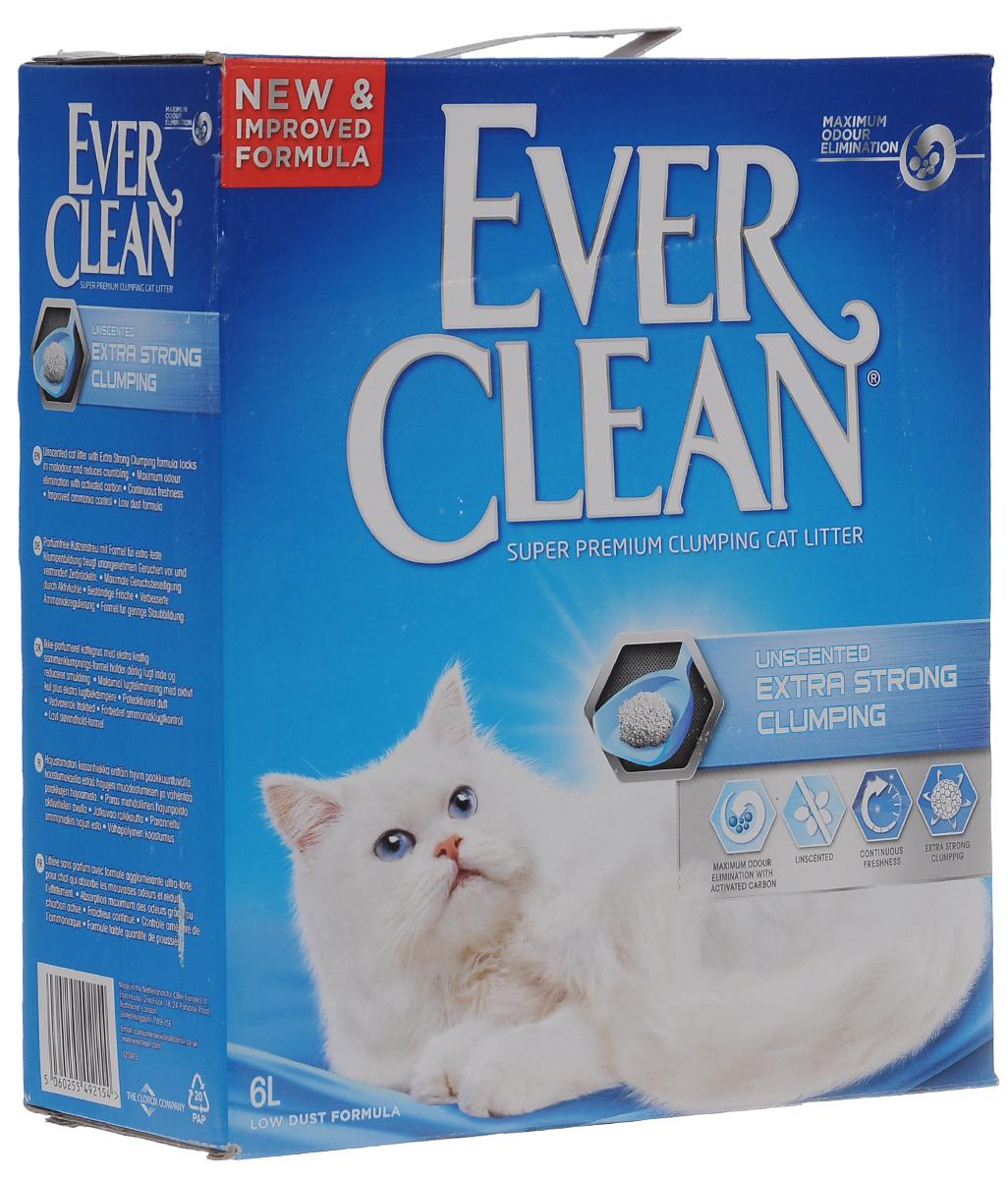 """Наполнитель для кошачьего туалета Ever Clean """"Extra Strong Clumpin """", комкующийся, без ароматизатора, 6 л 59651_без ароматизатора"""