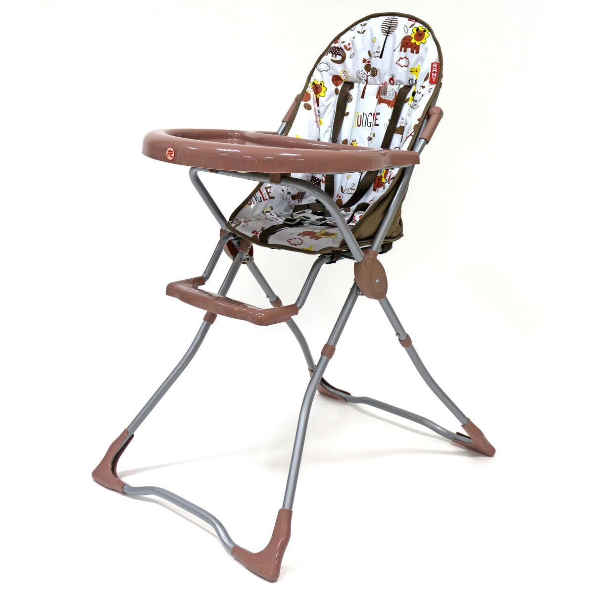 Rant Стульчик для кормления Fredo цвет бежевый4630008878064Легкий, удобный и функциональный стульчик для детей от 6 месяцев до 3-х лет; Удобно и безопасно откидывающаяся пластиковая столешница; съемный, моющийся чехол кресла из прочной клеенки; 5-ти точечные ремни безопасности; пластиковая подставка для ножек; не имеет острых углов; яркая расцветка ткани, благотворно влияющая на эмоциональное состояние ребёнка; легкая и устойчивая конструкция; легко складывать и удобно хранить (в сложенном виде занимает мало места).
