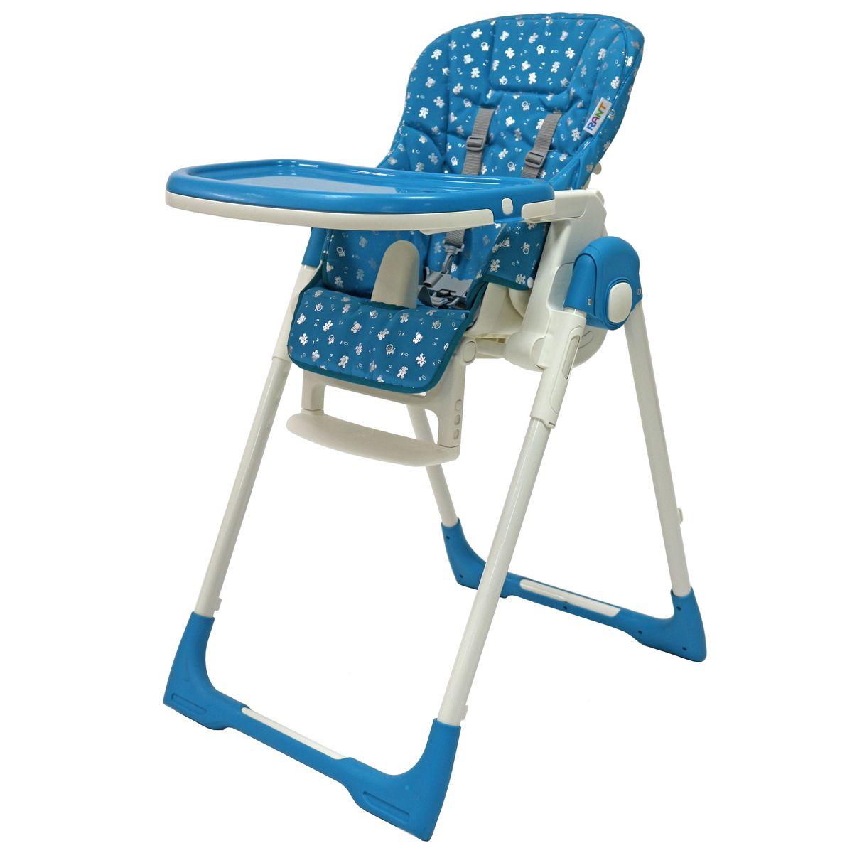 Rant Стульчик для кормления Crystal цвет голубой4630008877418Стульчик для кормления CRYSTAL FABRIC - удобный, многофункциональный и практичный стульчик, предназначенный для детей с 0 и до 3-х лет. Он легко трансформируется в шезлонг, поэтому его можно использовать с рождения, а в возрасте 6 месяцев малыш сможет кушать сидя в этом стульчике. Спинка сидения имеет несколько уровней наклона. От положения «лежа» до положения «сидя». Если малыш устал и задремал во время кормления, можно легко, не разбудив его, опустить спинку сидения в положение лежа. Сиденье стульчика регулируется по высоте, обеспечивая быстрорастущему малышу удобство и комфорт. Когда ваш малыш подрастет, он будет счастлив сидеть на этом стульчике за одним столом вместе со взрослыми. Для этого вам всего лишь надо будет снять столешницу. Стульчик можно использовать как для кормления, так и для веселых игр, если расположить на подносе любимые игрушки ребенка. Съемный чехол сиденья изготовлен из высококачественной ламинированной ткани с водоотталкивающим покрытием. Съемная столешница...