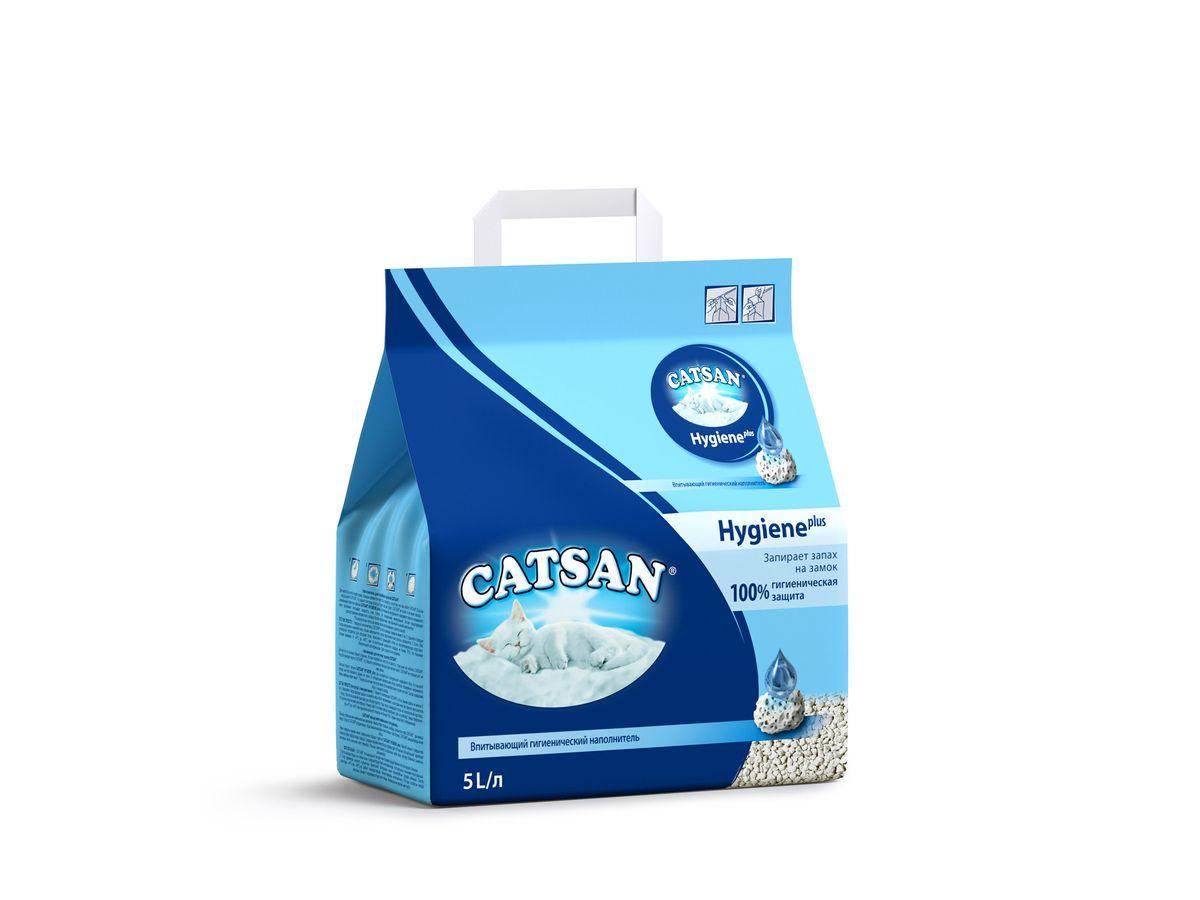 """Наполнитель для кошачьего туалета """"Catsan"""", впитывающий, 5 л 10199"""