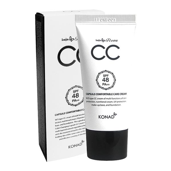 Konad СС крем для лица  iloje Flobu CAPSULE CC CREAM 30 грIF-CCCкрем капсульный. 30 ml. CC крем несет несколько функций для защиты кожи - питание кожи, защитой от ультрафиолетовых лучей, база для макияжа. Эффективно устраняет дефекты кожи, придает естественный цвет. Способ применения: Наносить крем на очищенную кожу до полного впитывания
