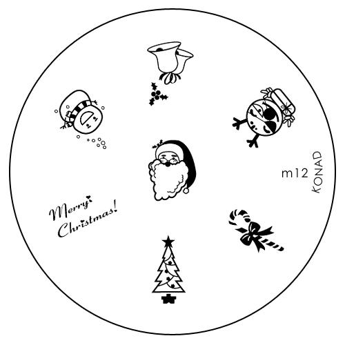 Konad Печатная форма (диск) M12 image plateSN-IPM012Диск для стемпинга. Теперь создавать дизайны на ногтях стало очень просто