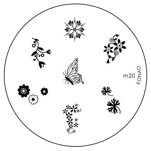 Konad Печатная форма (диск) M20 image plateSN-IPM020Диск для стемпинга. Теперь создавать дизайны на ногтях стало очень просто