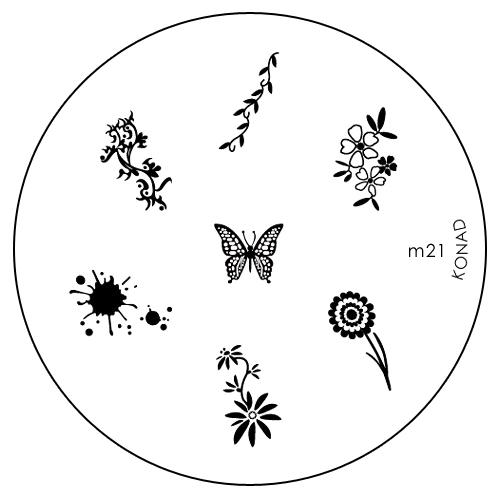 Konad Печатная форма (диск) M21 image plateSN-IPM021Диск для стемпинга. Теперь создавать дизайны на ногтях стало очень просто