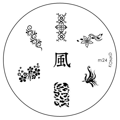 Konad Печатная форма (диск) M24 image plateSN-IPM024Диск для стемпинга. Теперь создавать дизайны на ногтях стало очень просто